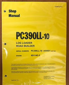 Komatsu PC390LL-10 LOG LOADER Hydraulic Excavator Shop Repair Service Manual