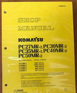 Komatsu Service PC27MR-2, PC30MR-2, PC35MR-2 Manual