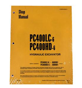 Komatsu PC400LC-6, PC400HD-6 Service Repair Printed Manual