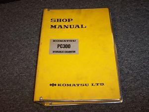 Komatsu PC300 Hydraulic Excavator Workshop Shop Service Repair Manual Guide Book