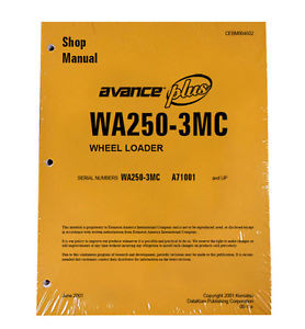 Komatsu WA250-3MC Wheel Loader Service Shop Manual