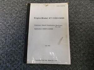 Komatsu Dresser KT-1150-C450 Engine Parts Catalog Manual UH801 UH50