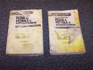 Komatsu PC200-5 PC200LC-5 Hydraulic Excavator Parts Catalog Manual Guide Set
