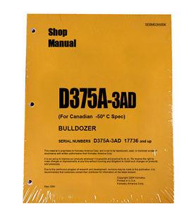 Komatsu D375A-3AD Service Repair Workshop Printed Manual