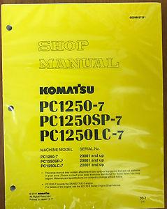 Komatsu PC1250-7 PC1250LC-7 PC1250SP-7 Service Manual