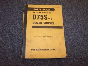 Komatsu D75S-2 Dozer Shovel Track Loader Original Parts Catalog Manual