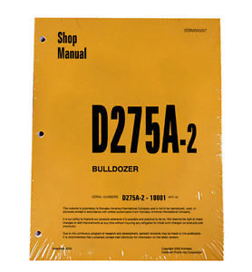 Komatsu D275A-2 Bulldozer Service Workshop Repair Printed Manual
