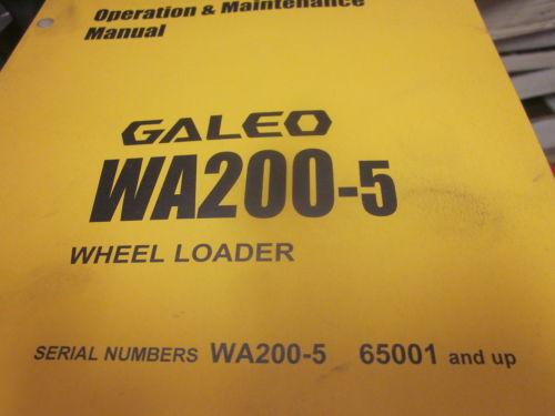 Komatsu WA200-5 Wheel Loader Operation & Maintenance Manual