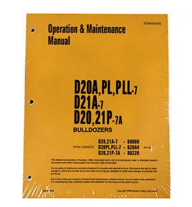 Komatsu D20A,PL,PLL Dozer Operation & Maintenance Manual