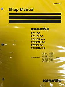 Komatsu PC210-8 PC210LC-8 PC210NLC-8 PC230NHD-8 PC240LC-8 PC240NLC-8 Service Rep