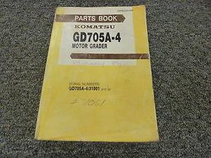 Komatsu GD705A-4 Motor Grader Parts Catalog Manual S/N 31001 and Up