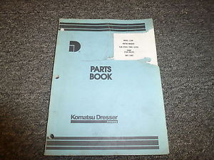 Komatsu Dresser 118B Motor Grader Parts Catalog Manual Book S/N 07601-10750