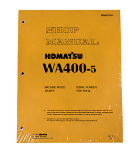 Komatsu WA400-5 Wheel Loader Service Repair Manual
