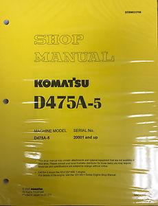 Komatsu D475A-5 Service Repair Workshop Printed Manual
