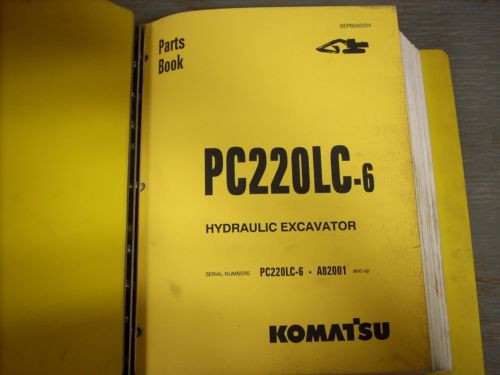 Komatsu Parts Manual PC220LC-6 Hydraulic Excavator