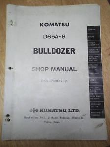Komatsu Shop/Service Manual~D65A-6 Bulldozer