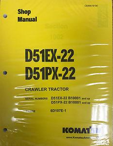 Komatsu D51EX-22 D51PX-22 Dozer Service Repair Shop Manual