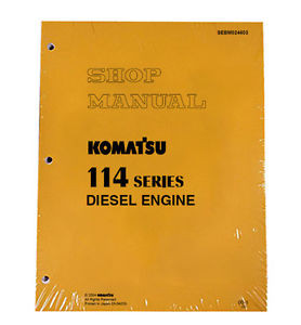 Komatsu 114 Series Diesel Engine Service Workshop Printed Manual