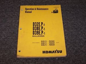 Komatsu D38E-1 D38P-1 Bulldozer Dozer Crawler Owner Operator Maintenance Manual