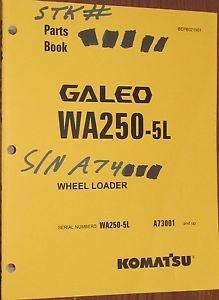 PARTS MANUAL FOR WA250-5L SERIAL A73000 KOMATSU WHEEL LOADER