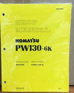 Komatsu Service PW130-6K Excavator Shop Manual NEW REPAIR