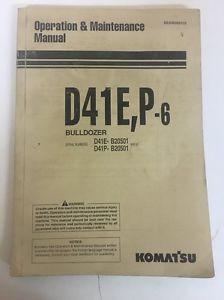 Operation & Maintenance Manual D41E,P-6 Bulldozer Komatsu