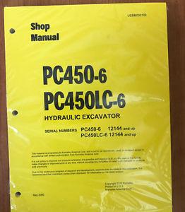 Komatsu PC450-6, PC450LC-6 Service Repair Printed Manual 12144 AND UP