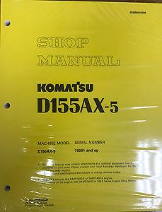 Komatsu D155AX-5 w/ 6D140E-3 Engine Service Repair Printed Manual