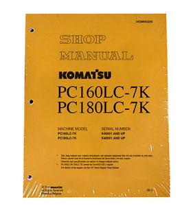 Komatsu Excavator Service PC160LC-7K, PC180LC-7K Shop Printed Manual