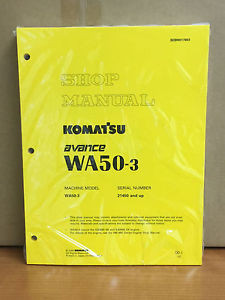 Komatsu WA50-3 Avance Wheel Loader Shop Service Repair Manual