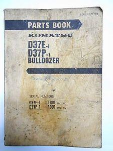 KOMATSU D37E-1 D37P-1 Tractor Bull Dozer Crawler Parts Catalog