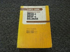 Komatsu D65A-6 D65P-6 Bulldozer Dozer Parts Catalog Manual