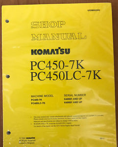 Komatsu  Hydraulic Excavator PC450-7K PC450LC -7K SHOP MANUAL Service Repair