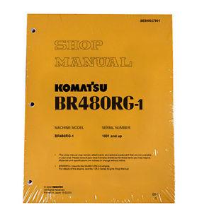 Komatsu Service BR480RG-1 Mobile Crusher Repair Manual