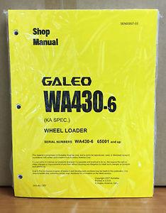 Komatsu WA430-6 (KA Spec.) Wheel Loader Shop Service Repair Manual