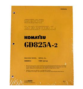 Komatsu Service GD825A-2 Series Mobile Grader Manual