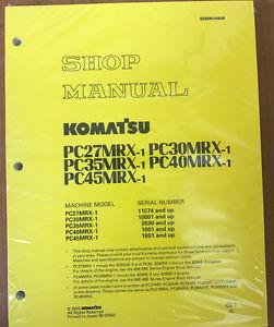 Komatsu Service PC27MRX-1, PC30MRX-1, PC35MRX-1 Manual