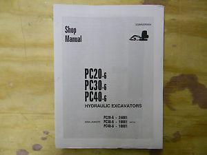 Komatsu PC20-6. PC30-6 and PC40-6  Shop Manual