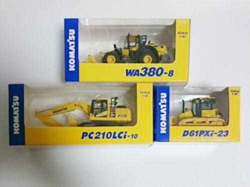 KOMATSU 1:87 / WA380-8 WHEEL LOADER / PC210LCi-10 EXCAVATOR / D61PXi-23 3set New
