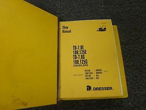 Komatsu Dresser 100E 125E 100G 125G Crawler Loader Shop Repair Service Manual