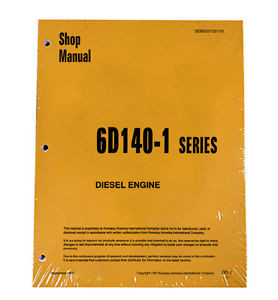 Komatsu 6D140-1 Series Diesel Engine Service Workshop Printed Manual