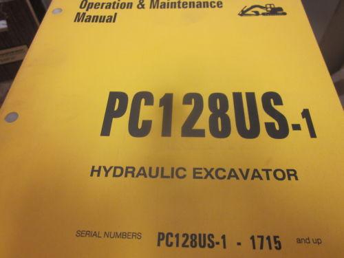 Komatsu PC128US-1 Hydraulic Excavator Operation & Maintenance Manual