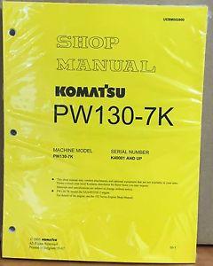 Komatsu Service PW130-7K Excavator Shop Manual NEW REPAIR