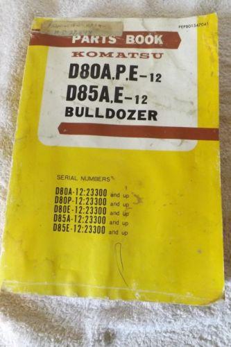 KOMATSU D80A-12 BULLDOZER Parts Manual Book Catalog spare D85AE