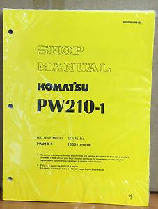 Komatsu Service PW210-1 Excavator Shop Manual NEW REPAIR BOOK