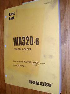Komatsu WA320-6 PARTS MANUAL BOOK CATALOG WHEEL LOADER BEPB024800 GUIDE LIST