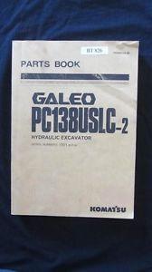 Komatsu Galeo PC138USLC-2 Hydraulic Excavator Parts Manual Book Catalog