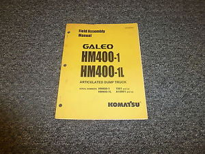 Komatsu Galeo HM400-1 HM400-1L Articulated Dump Truck Field Assembly Manual
