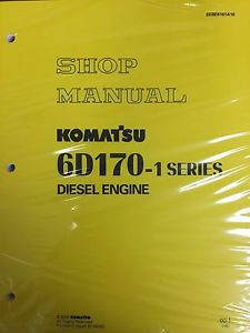 Komatsu 6D170-1  Series Engine Factory Shop Service Repair Manual