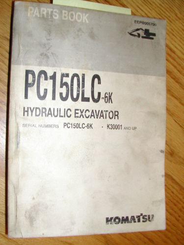 Komatsu PC150LC-6K PARTS MANUAL BOOK CATALOG HYD EXCAVATOR GUIDE BOOK EEPB005700